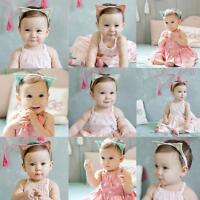 Infant Baby Girls Elastic Headband Hair Band Cat Ears