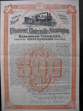Wiscasset Waterville & Farmington Railroad 1901    Selten