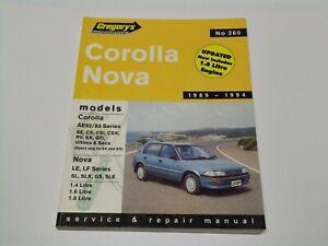 Gregory's No 260 Toyota Corolla/Nova 1989-1994 service & Repair Manual