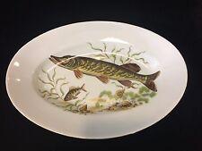 "Naaman Israel White Porcelain Fish Oval Platter Bowl, 14"" x 9 7/8"" x 2"" High"