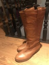 Women's Size 6 Tan Leather Knee High Boots