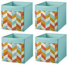 IKEA DRÖNA türkis-bunt Fach Box Expedit Kallax Regal Aufbewahrungsbox  4 Stück