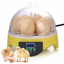 Fully Automatic Digital Egg Incubator 7 Eggs Mini Poultry Chicken Duck Hatcher
