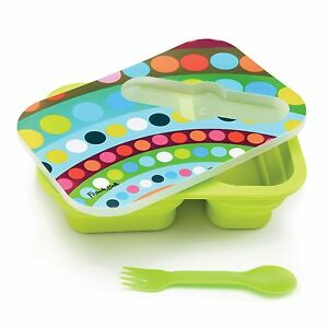 French Bull Collapsible Pop-up Silicone Lunch Box Kit Container School