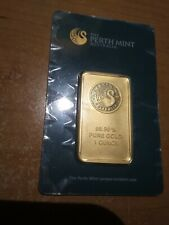 1 oz. Gold Bar - Perth Mint - 99.99 Fine in Assay Certified Card - Sealed