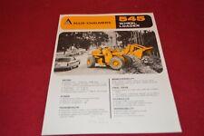 Allis Chalmers 545 Tractor Loader Dealer's Brochure YABE14 ver22