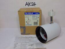 THOMAS LIGHTING TRACK HEAD WHITE LARGE ROUNDBACK TR 4703-8 NOS TR & DY SERIES