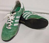 Adidas ADI Speed Suede Shoes Sneakers Green White Men's Size 12 three stripes