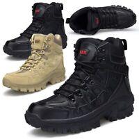 Mens Tactical Leather Boots Military Desert Combat Mesh Desert SWAT Shoes Patrol