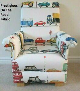 Prestigious Cars Fabric Child's Chair On The Road Armchair Kids Children's Coach