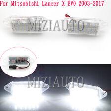 For Mitsubishi Lancer X EVO 2003 04-2017 LED Number License Plate Lights Lamps