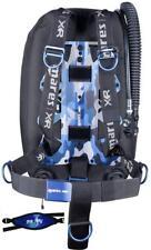 Mares Blue Battle Single Backmount Set XR Line Scuba Diving BCD BC Back Inflator