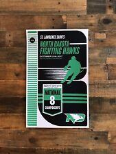 University of North Dakota vs. St. Lawrence College Hockey Game Poster PRINT