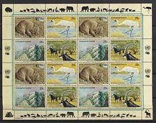 UNO New York 1993 postfrisch MiNr.  644-647  Gefährdete Arten