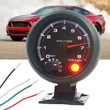 12V Universal Car vehicle 3.75'' Tachometer Tacho Gauge W/ Shift Light 0-8000RPM