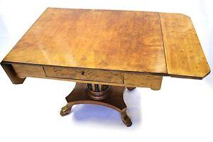 Biedermeier folding table birch wood lady Desk shellac 1830 restored coffee