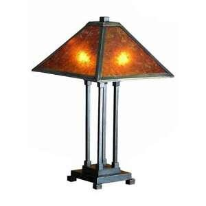 Meyda Lighting 24'H Van Erp Amber Mica Table Lamp, Amber - 24217