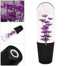 Universal 150MM Purple Flower Filled Poly Shift Knob Clear Transparent HONDA JDM