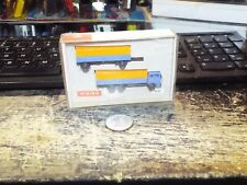 Wiking N Gauge N41 Truck and Seperate Trailer - Blue and Orange - Mob