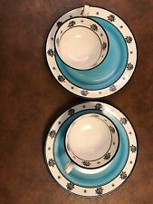 RARE Vintage (English) Chelson Fine Bone China Tea for Two Cup & Dessert Plates