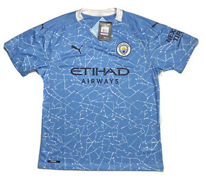 Puma Manchester City FC Authentic 20/21 Home Soccer Jersey Mens XL Drycell