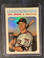 2020 Topps Heritage Nick Ahmed White Chrome Refractor #'d 44/71