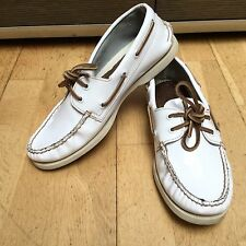Muy Cool Sperry Top Sider Blanco Charol nos 9 M UK 8