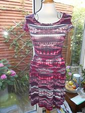 New Look Aztec pink burgundy colours summer dress Size 8 BNWOT holiday Festivals