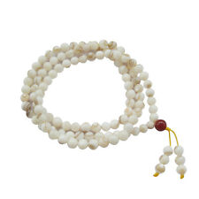 7mm--Sea Shell Tibet Buddhist 108 Prayer Beads Mala Necklace