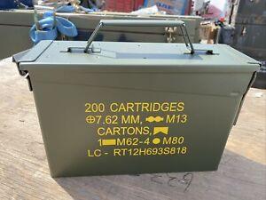 Genuine Military 30 Cal Ammo Ammunition Metal Tool Box/ Army Surplus/ex Mod