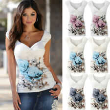 V Neck Blouses White Tops & Shirts for Women