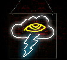 New Lightning Cloud Neon Door Sign Handmade Visual Artwork Wall Home Decor Light