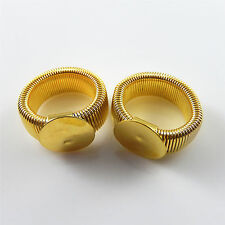 Wholesale 10pcs Gold Color Rings Cameo Base 16mm Alloy Finger Ring 25*25*11mm