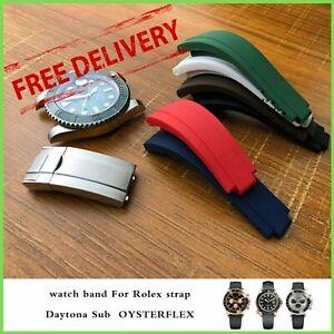 20/21mm Watch Band Strap For Rolex Submariner Daytona GMT OYSTERFLEX Wrist