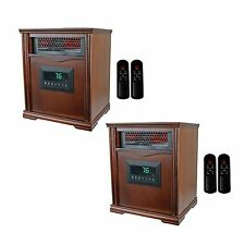 LifeSmart LifePro 4 Element 1500W Infrared Electric Portable Heaters (Pair)