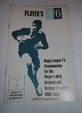 Players No 6 West Lancashire Regional Sevens 19th December 1968 @ Leigh