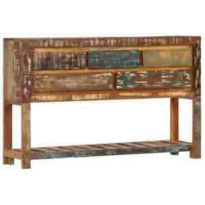 vidaXL Sideboard Solid Reclaimed Wood Home Cupboard Cabinet Organiser Unit