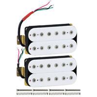 White HH Guitar Humbucker Pickups Neck&Bridge Pickup Set Hex Poles Double Coil