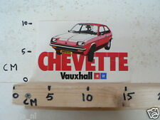 STICKER,DECAL VAUXHALL CHEVETTE