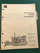 Oem John Deere Parts Catalog 6410 Bulldozer Pc 920