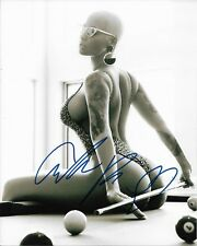 AMBER ROSE signed autographed SEXY SUPER MODEL 8X10 photo (21 SAVAGE, WIZ) w/COA