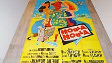 HOULA HOULA  !  fernand reynaud affiche cinema tahiti  1958