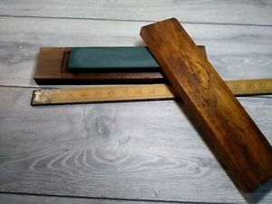 Vintage combination honing, sharpening stone in ornate wooden case