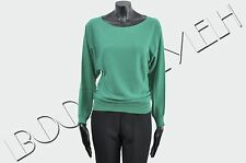 LANVIN 1200$ Authentic New Green Wool Knitted Sweater sz S XS