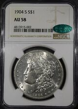 "1904-S Morgan Silver Dollar ""NGC AU58 CAC"" *Free S/H After 1st Item*"