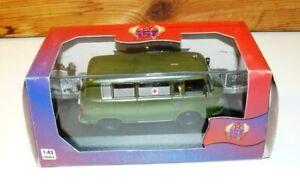 IST Models 1:43 #079 - 1964 BARKAS B1000 Military Ambulance MIB Very RARE