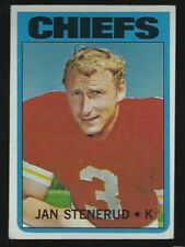 1972 Topps #61 Jan Stenerud Kansas City Chiefs HOF Placekicker Football Card