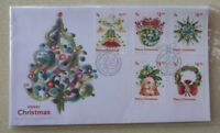 2017 NEW ZEALAND MERRY CHRISTMASSET OF 5 STAMPS FDC FIRST DAY COVER