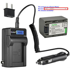 Kastar Battery LCD AC Charger for Sony NP-FP70 NP-FP71 Sony DCR-HC43 DCR-HC44
