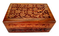 Wooden Indian Carving Box for Jewelry Handmade girls and women GIFT BOX ANTIQUE